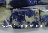 CSO244 15.5 inches 22*30mm rectangle sodalite gemstone beads