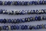 CSO31 15.5 inches 3*6mm faceted rondelle sodalite gemstone beads