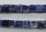 CSO351 15.5 inches 8*8mm cube natural sodalite gemstone beads