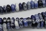 CSO40 15.5 inches 5*10mm rondelle sodalite gemstone beads wholesale