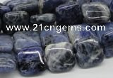 CSO44 15.5 inches 14*14mm square sodalite gemstone beads wholesale