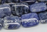 CSO46 15.5 inches 15*20mm rectangle sodalite beads wholesale