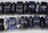 CSO51 15.5 inches 5*16mm & 9*16mm rondelle sodalite gemstone beads