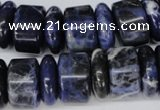 CSO52 15.5 inches 6*18mm & 11*18mm rondelle sodalite gemstone beads