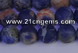 CSO523 15.5 inches 10mm round matte orange sodalite beads wholesale