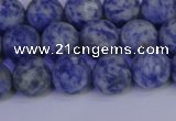 CSO532 15.5 inches 8mm round matte African sodalite beads wholesale