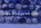 CSO621 15.5 inches 6mm faceted round AB grade sodalite beads