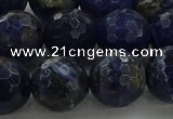 CSO645 15.5 inches 12mm faceted round sodalite gemstone beads