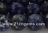 CSO646 15.5 inches 14mm faceted round sodalite gemstone beads