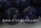 CSO649 15.5 inches 20mm faceted round sodalite gemstone beads