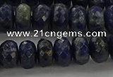 CSO663 15.5 inches 6*10mm faceted rondelle sodalite gemstone beads