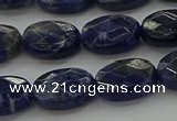 CSO716 15.5 inches 10*14mm faceted oval sodalite gemstone beads