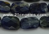 CSO737 15.5 inches 12*16mm faceted rectangle sodalite gemstone beads