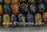 CSO763 15.5 inches 6*10mm faceted rondelle orange sodalite beads