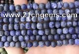 CSO841 15.5 inches 6mm round matte sodalite beads wholesale