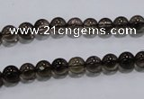 CSQ100 15.5 inches 6mm round grade AA natural smoky quartz beads