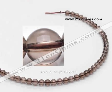 CSQ11 6mm round A grade natural smoky quartz beads Wholesale