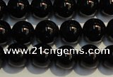 CSQ403 15.5 inches 10mm round black morion smoky quartz beads