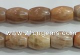 CSS251 15.5 inches 12*16mm drum natural sunstone beads