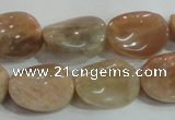 CSS257 15.5 inches 15*20mm twisted oval natural sunstone beads