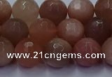 CSS673 15.5 inches 10mm faceted round sunstone gemstone beads
