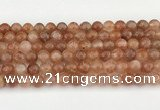 CSS753 15.5 inches 8mm round golden sunstone beads wholesale