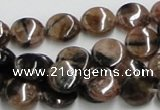CST06 15.5 inches 12mm flat round staurolite gemstone beads wholesale