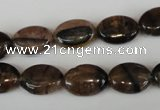 CST46 15.5 inches 10*14mm oval staurolite gemstone beads wholesale