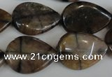 CST50 15.5 inches 18*25mm flat teardrop staurolite gemstone beads