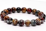 CTB06 7 inches 8mm round tiger eye stretch bracelet wholesale