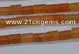 CTB303 15.5 inches 4*6mm tube red aventurine beads wholesale