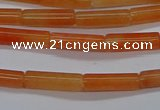 CTB322 15.5 inches 4*13mm tube red aventurine beads wholesale
