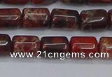 CTB710 15.5 inches 6*8mm tube poppy jasper beads wholesale
