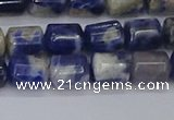 CTB715 15.5 inches 6*8mm tube white lace sodalite beads wholesale