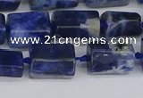 CTB735 15.5 inches 6*10mm - 8*12mm faceted tube sodalite beads
