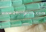 CTB813 15.5 inches 2*4mm tube green aventurine beads wholesale