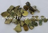 CTD1168 Top drilled 15*25mm - 30*40mm freeform plated agate beads