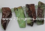 CTD1205 Top drilled 5*20mm - 10*40mm sticks Australia chrysoprase beads