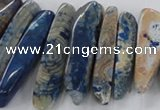 CTD1666 Top drilled 8*25mm - 15*50mm sticks agate gemstone beads