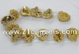 CTD1681 Top drilled 15*25mm - 30*35mm nuggets druzy agate beads