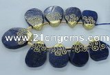 CTD1965 Top drilled 25*35mm - 35*45mm freeform lapis lazuli beads