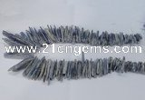 CTD1978 Top drilled 5*20mm – 8*45mm sticks blue Kyanite beads