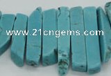 CTD2018 Top drilled 6*20mm - 8*45mm sticks turquoise beads