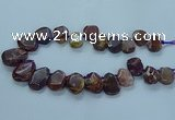 CTD2642 Top drilled 20*25mm - 30*40mm faceted freeform agate beads