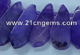 CTD2701 15.5 inches 10*25mm - 18*50mm freeform agate beads