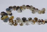 CTD2732 Top drilled 15*20mm - 25*35mm freeform montana agate beads