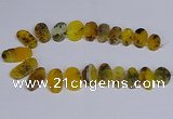 CTD2741 Top drilled 15*25mm - 20*40mm freeform agate beads