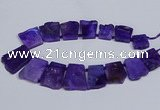 CTD2755 Top drilled 25*30mm - 35*45mm freeform agate beads