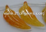CTD2772 Top drilled 20*45mm - 25*55mm carved leaf agate beads