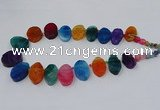 CTD2786 Top drilled 15*25mm - 25*40mm oval agate gemstone beads